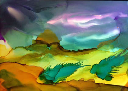 Alcohol Ink at Oasis by Peter Elliott